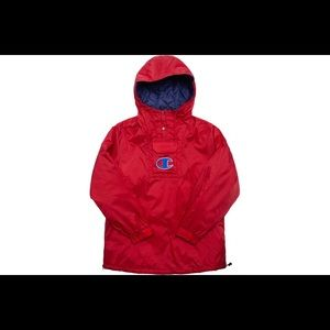 Supreme x Champion Pullover Parka Red- Brand New - Never worn - Tags still on.